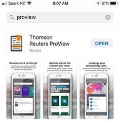 The ProView app in the Apple App Store